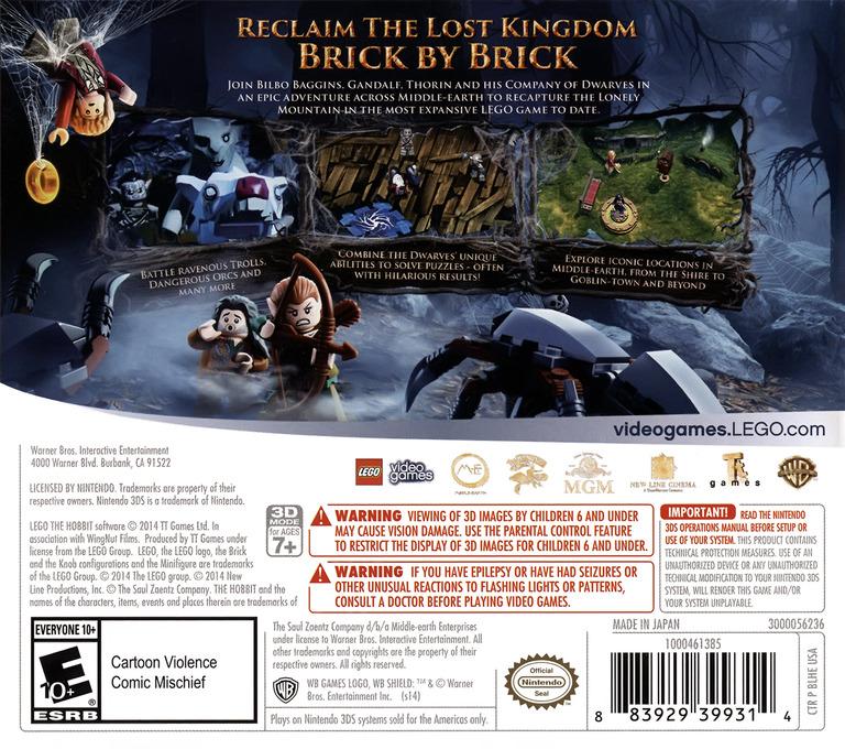 LEGO The Hobbit 3DS backHQ (BLHE)