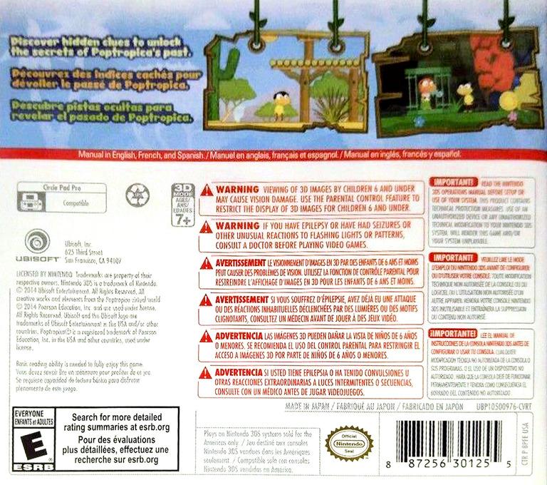 Poptropica - Forgotten Islands 3DS backHQ (BPFE)