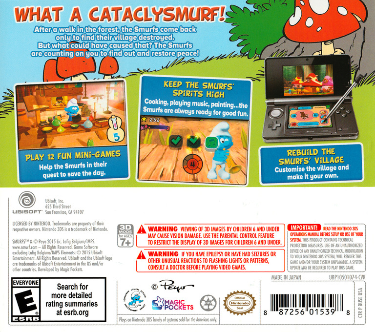 The Smurfs 3DS backHQ (BUSE)