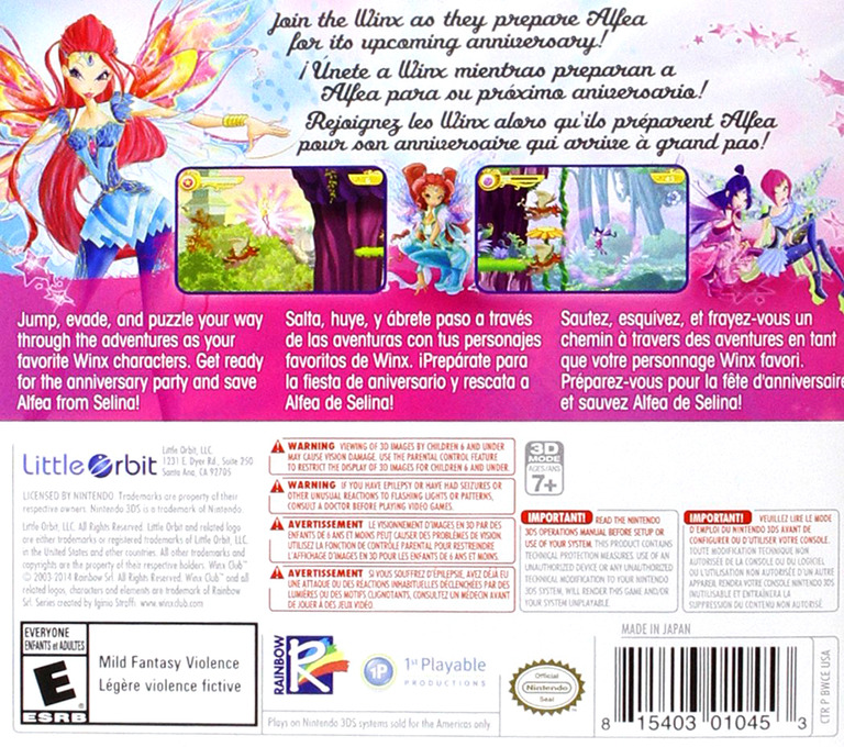 Winx Club - Saving Alfea 3DS backHQ (BWCE)
