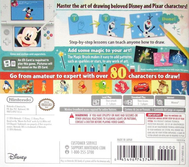Disney Art Academy 3DS backHQ (BWDE)