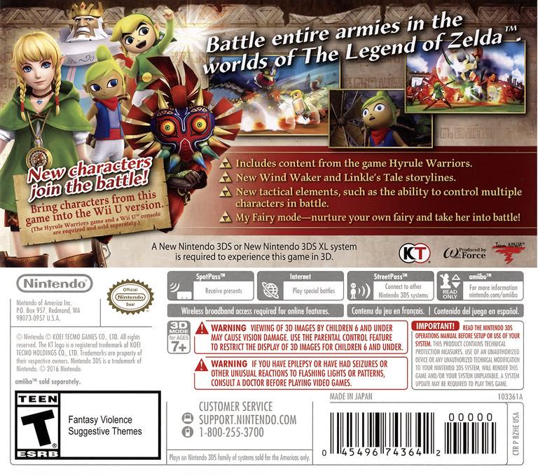 Hyrule Warriors Legends 3DS backHQ (BZHE)