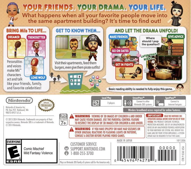 Tomodachi Life 3DS backHQ (EC6E)