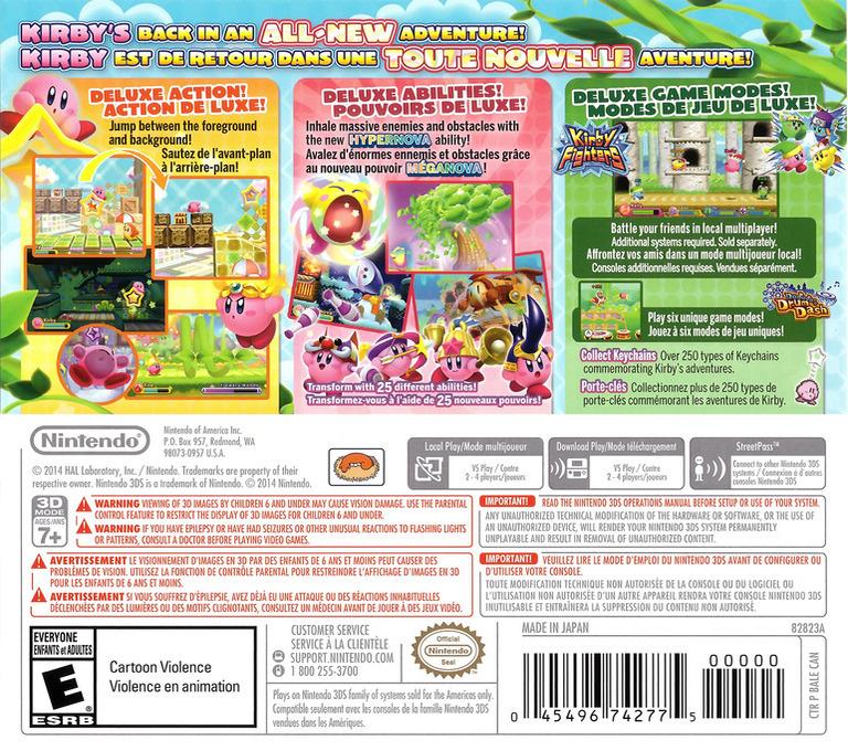 Kirby - Triple Deluxe 3DS backHQ (BALE)