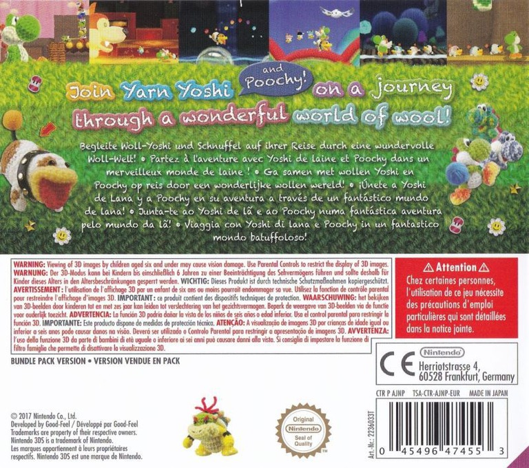Poochy & Yoshi's Woolly World 3DS backHQB (AJNP)