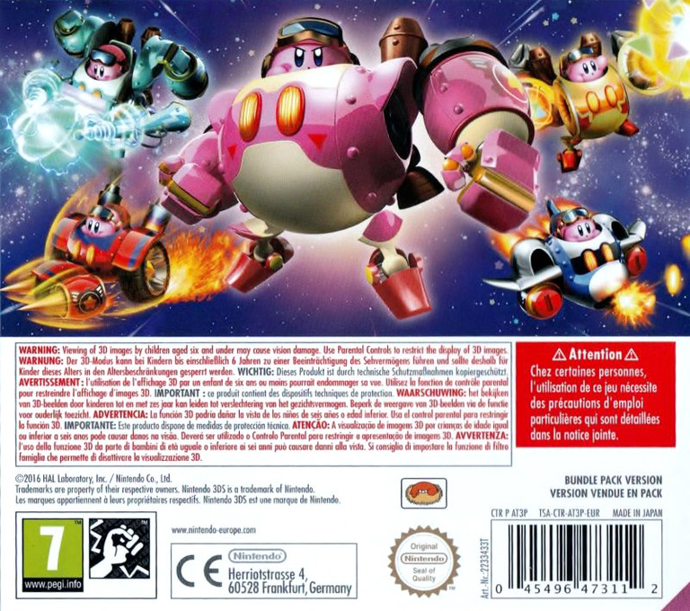 Kirby: Planet Robobot 3DS backHQB (AT3P)