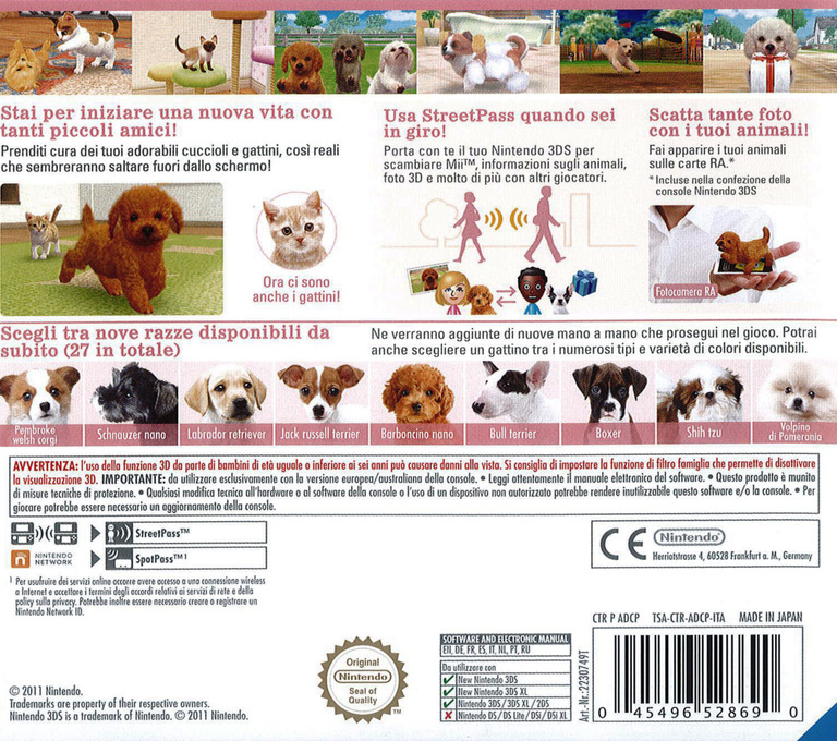Nintendogs + Cats - Barboncino nano & Nuovi amici 3DS backHQB (ADCP)