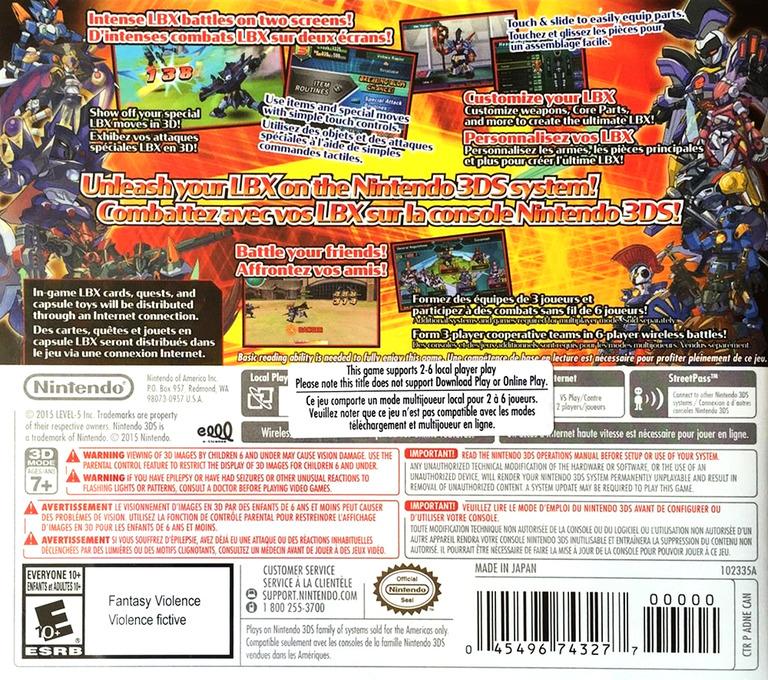 LBX - Little Battlers eXperience 3DS backHQB (ADNE)