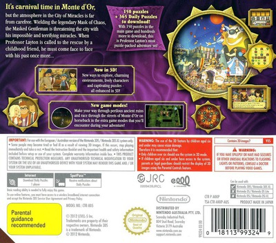 Professor Layton and the Miracle Mask 3DS backM (AKKP)