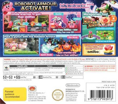 Kirby: Planet Robobot 3DS backM (AT3P)