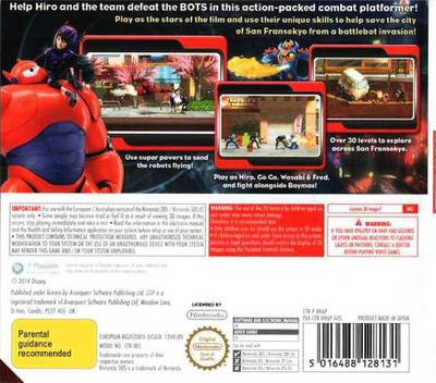 Big Hero 6 - Battle in the Bay 3DS backM (BH6P)