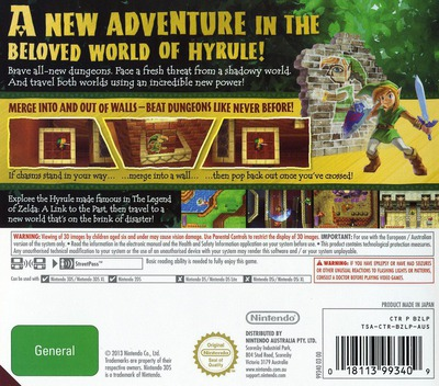 The Legend of Zelda - A Link Between Worlds 3DS backM (BZLP)