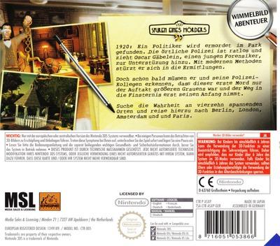 1920 Spuren eines Mörders 3D 3DS backM (ASXP)