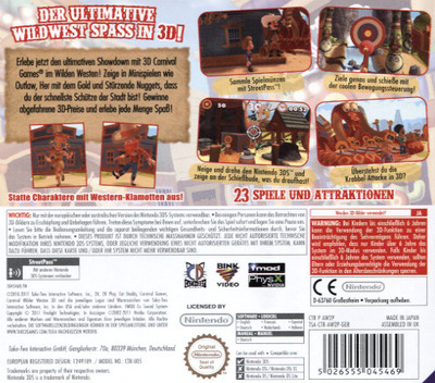 Carnival - Wilder Westen 3D 3DS backM (AW2P)
