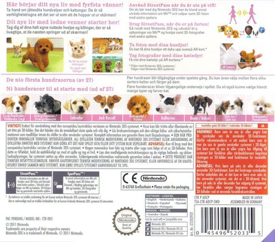 Nintendogs + Cats - Puddel & Nye venner 3DS backM (ADCP)