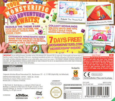 Moshi Monsters - Moshlings Theme Park 3DS backM (AA9P)