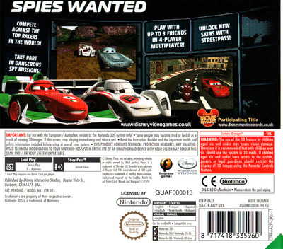 Cars 2 3DS backM (AAZP)