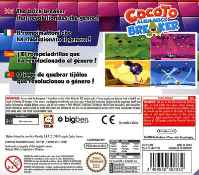 Cocoto - Alien Brick Breaker 3DS backM (AB7P)