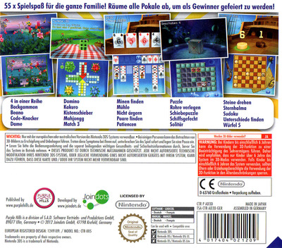 3D Game Collection - 55 in 1 3DS backM (AD3D)