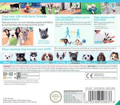 Nintendogs + Cats - French Bulldog & New Friends 3DS backM (ADBP)