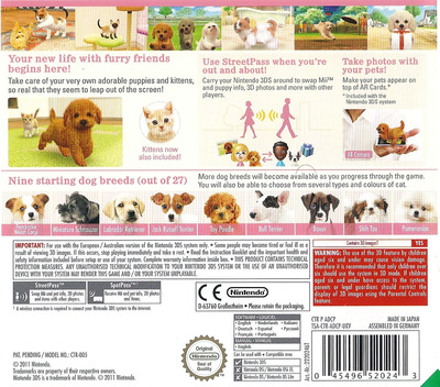 Nintendogs + Cats - Toy Poodle & New Friends 3DS backM (ADCP)