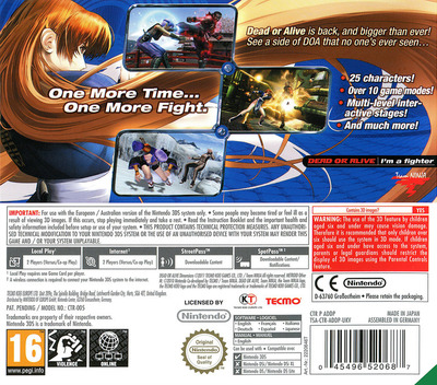 Dead or Alive - Dimensions 3DS backM (ADDP)