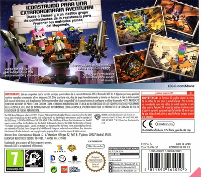 The LEGO Movie Videogame 3DS backM (AFJS)
