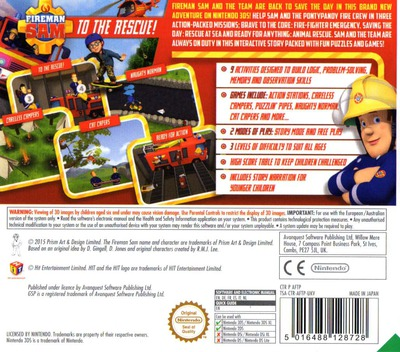 Fireman Sam - To The Rescue! 3DS backM (AFTP)
