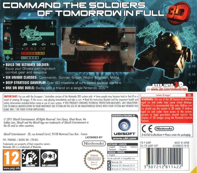 Tom Clancy's Ghost Recon - Shadow Wars 3DS backM (AGRP)