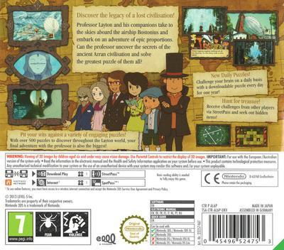 Professor Layton and the Azran Legacy 3DS backM (AL6P)