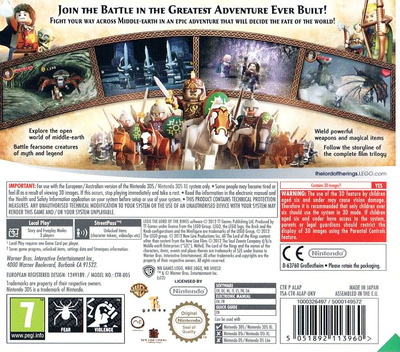 LEGO The Lord of the Rings 3DS backM (ALAP)