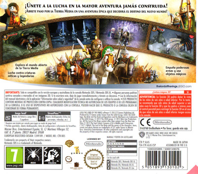 LEGO The Lord of the Rings 3DS backM (ALAS)