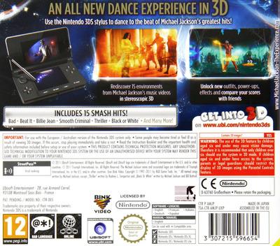 Michael Jackson - The Experience 3D 3DS backM (AMJP)