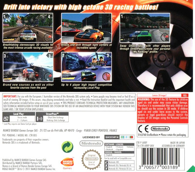 Ridge Racer 3D 3DS backM (ARRP)