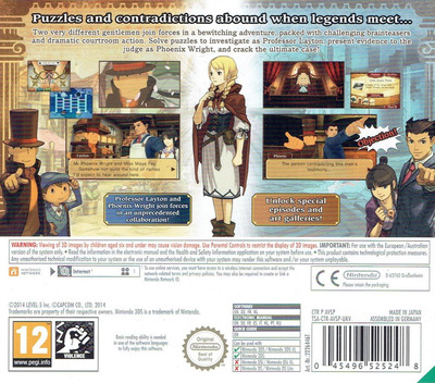 Professor Layton vs. Phoenix Wright - Ace Attorney 3DS backM (AVSP)