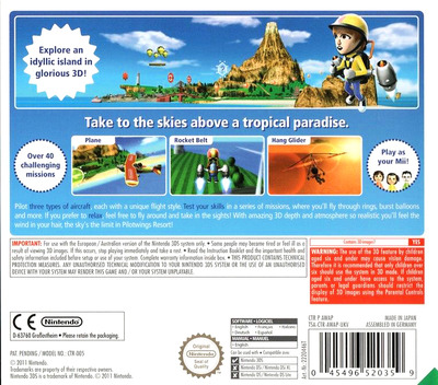 Pilotwings Resort 3DS backM (AWAP)