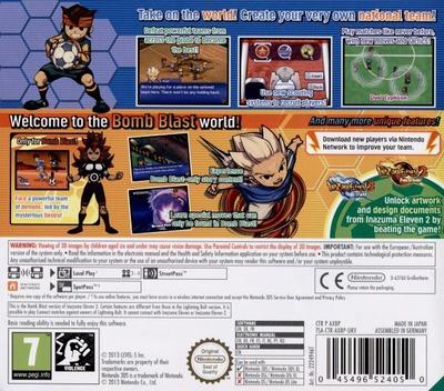 Inazuma Eleven 3 - Bomb Blast 3DS backM (AXBP)