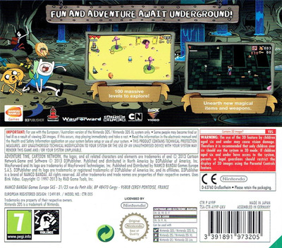 Adventure Time - Explore the Dungeon Because I DON'T KNOW! 3DS backM (AY9P)