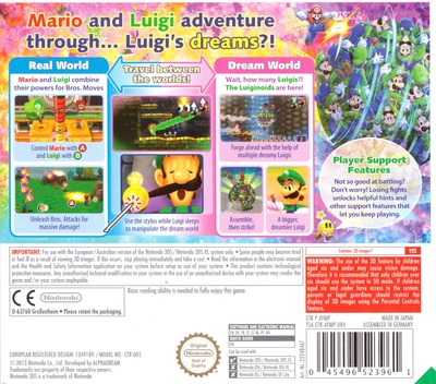 Mario & Luigi - Dream Team Bros. 3DS backM (AYMP)