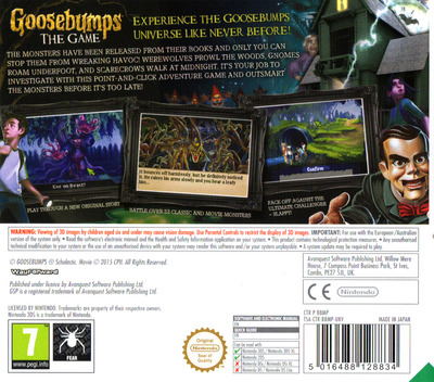 Goosebumps - The Game 3DS backM (BBMP)