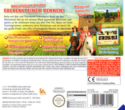 Bibi & Tina - Das Spiel zum Kinofilm 3DS backM (BBTD)