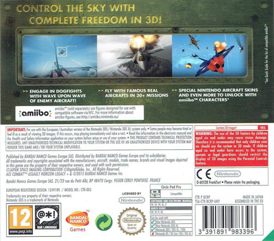Ace Combat - Assault Horizon Legacy+ 3DS backM (BCRP)