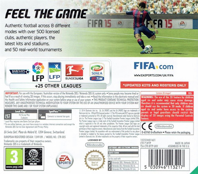 FIFA 15 - Legacy Edition 3DS backM (BFTP)