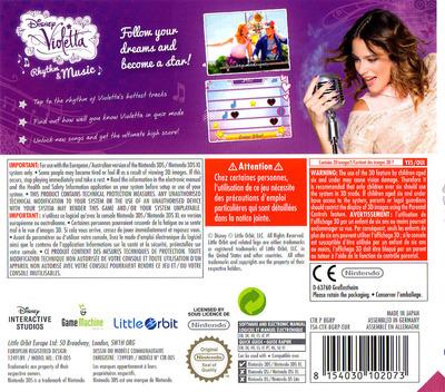 Disney Violetta - Rhythm & Music 3DS backM (BGRP)