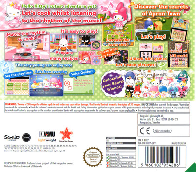 Hello Kitty and the Apron of Magic - Rhythm Cooking 3DS backM (BHKP)