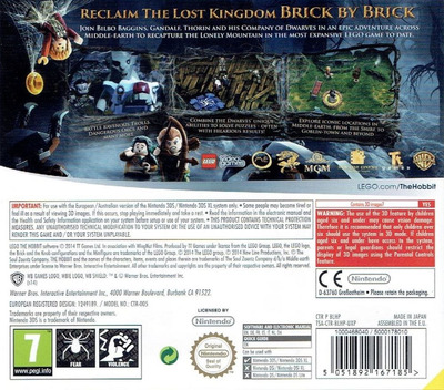 LEGO The Hobbit 3DS backM (BLHP)