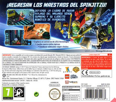 LEGO Ninjago - Nindroids 3DS backM (BLNX)