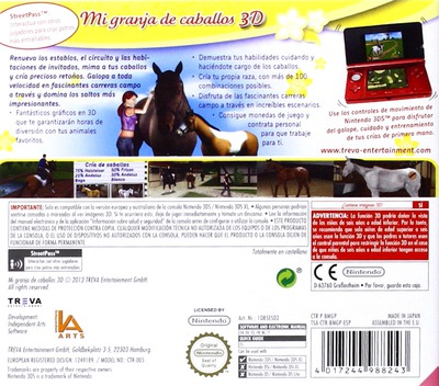 Mi granja de caballos 3D 3DS backM (BMGP)