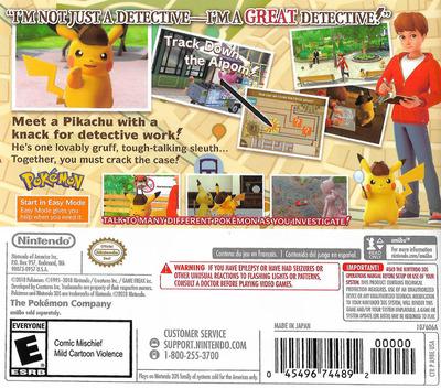 Detective Pikachu 3DS backM (A98A)