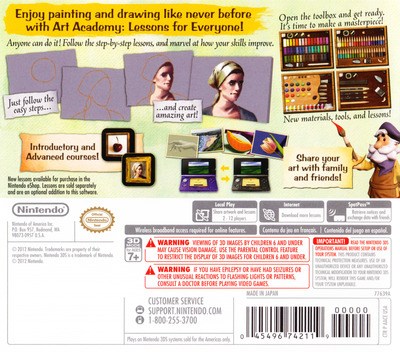 Art Academy - Lessons for Everyone 3DS backM (AACE)